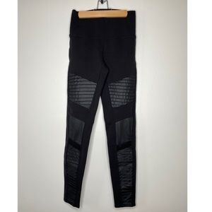 ALO YOGA moto leggings black medium